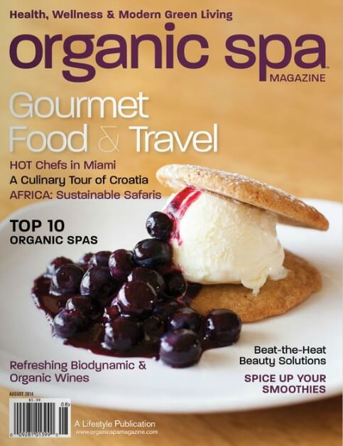 Organic Spa Magazine July 2014 Front Cover